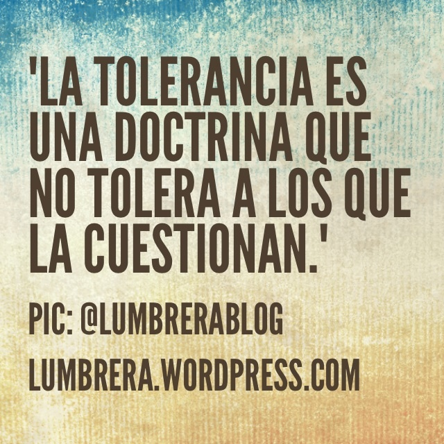 La Tolerancia #frases